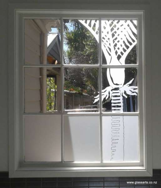 Glassarts frosted film for bathroom windows mt eden for Window designs nz